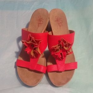 Life Stride Floral Wedges - Size 8.5W